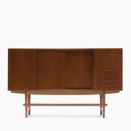 Scandinavian highboard in teak