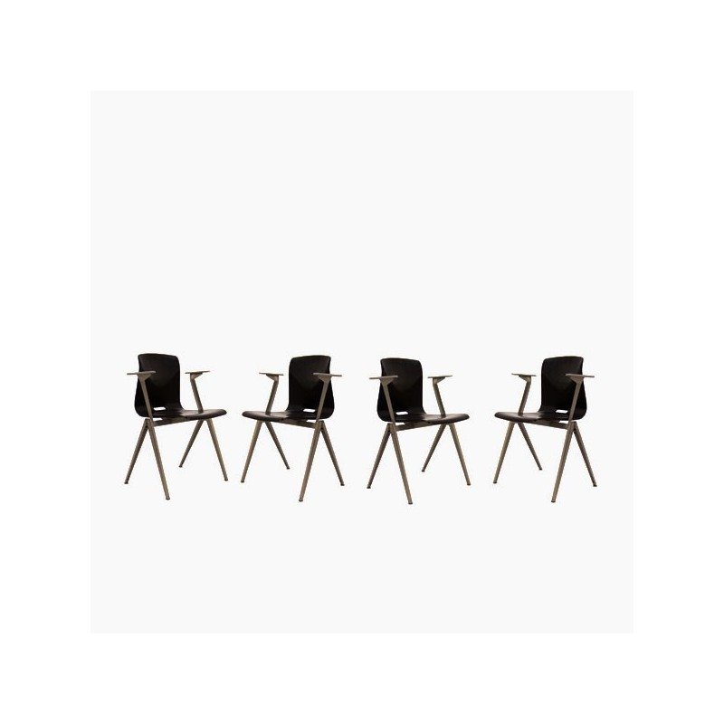 Thur-op-seat chairs with armrest set of 4