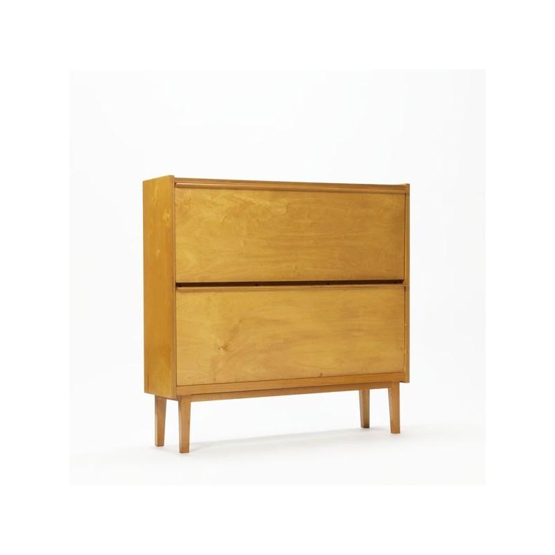 Shoe cabinet in birch wood