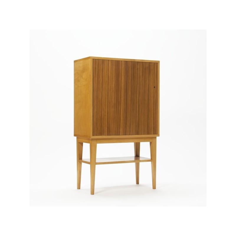 Birch wooden cabinet with teak