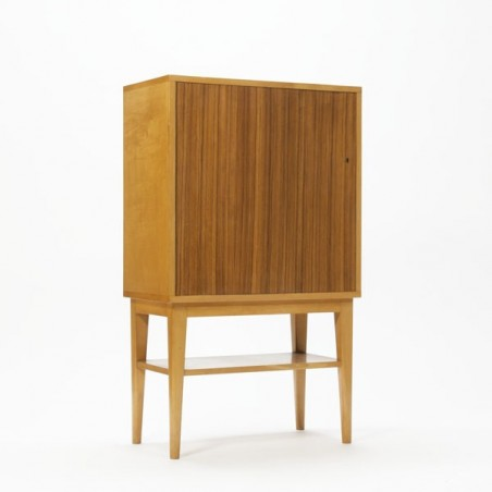 Birch wooden cabinet with teak