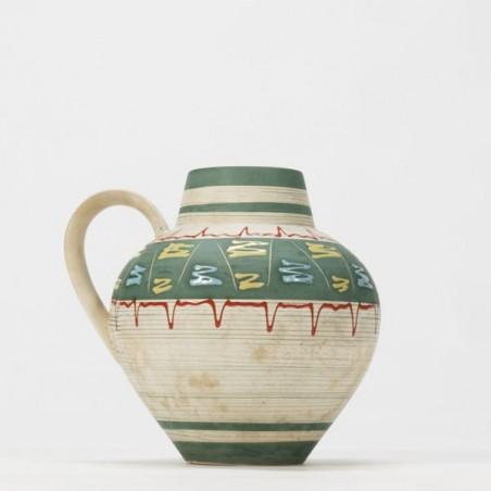 West-Germany vase with 50's design round model