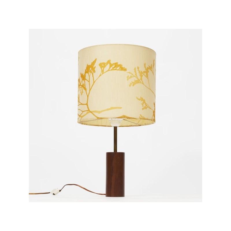 Tafellamp met houten voet