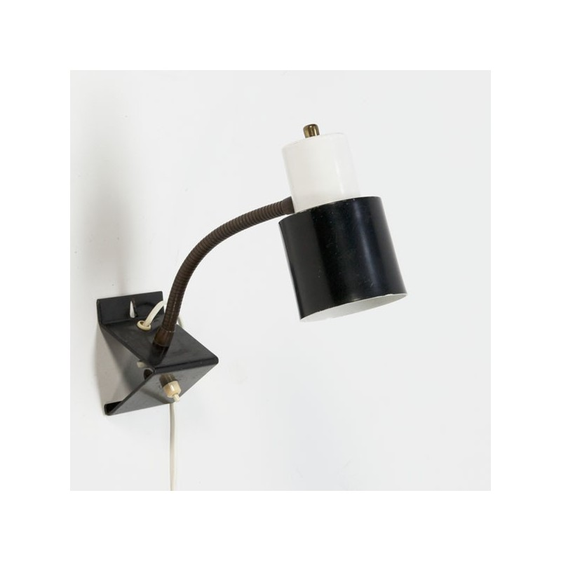Hala wandlamp zwart/ wit
