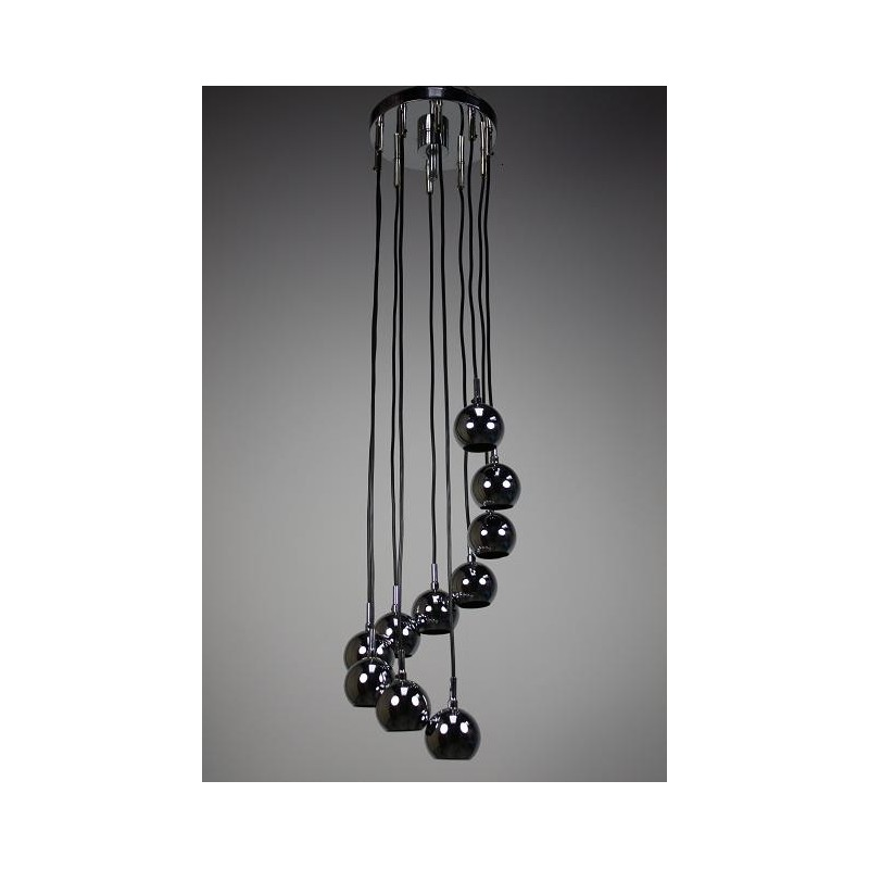 Hanging lamp with small chrome balls