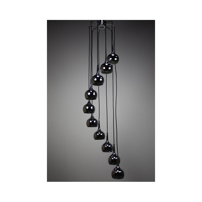 Hanging lamp with chrome balls