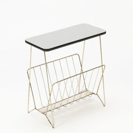 Magazine rack with formica top