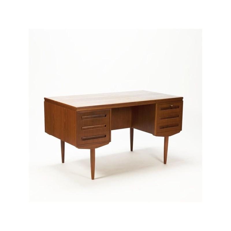 Large Scandinavian vintage desk in teak