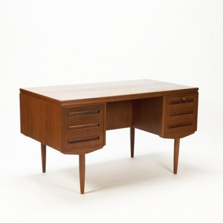 Large Scandinavian vintage desk in teak