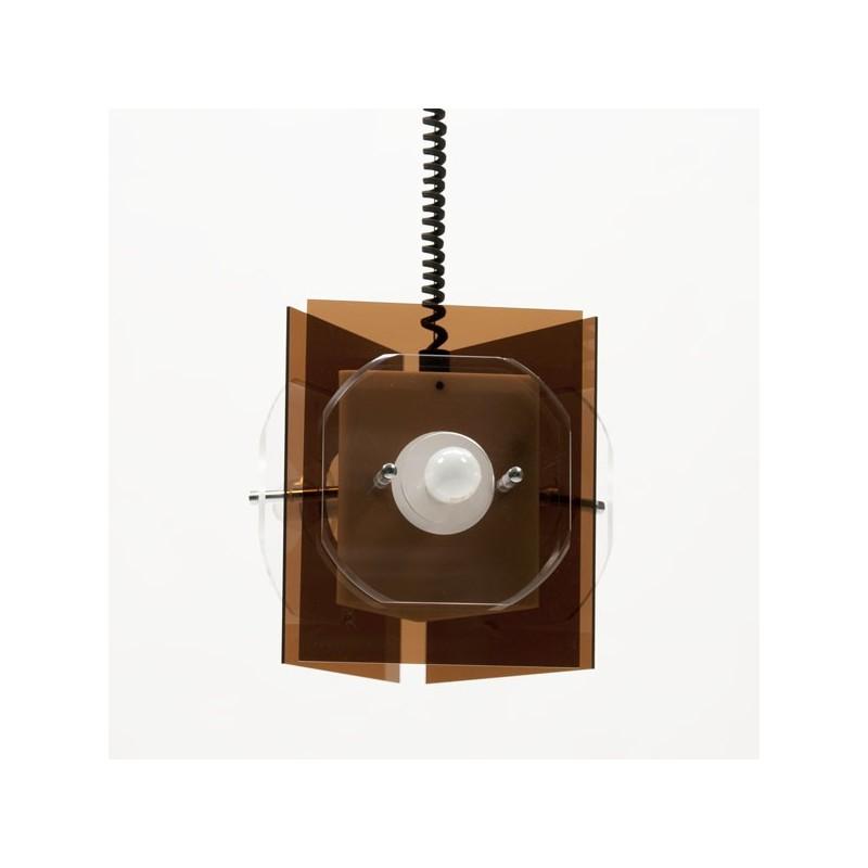 Hanging Lamp Nl: Plexiglass Hanging Lamp 1970's