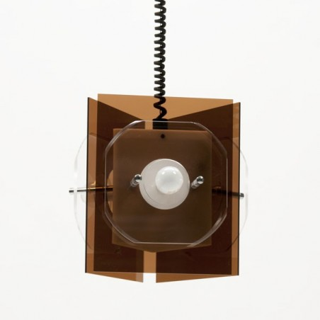 Plexiglass hanging lamp 1970's