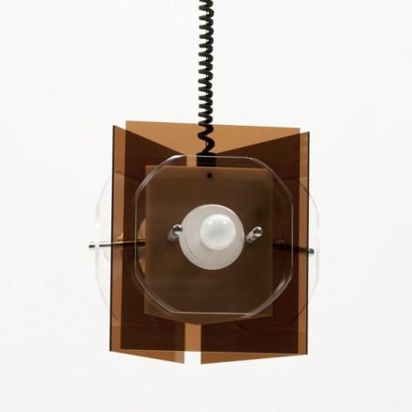 Plexiglazen hanglamp 70's