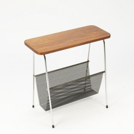 Magazine rack with wooden top