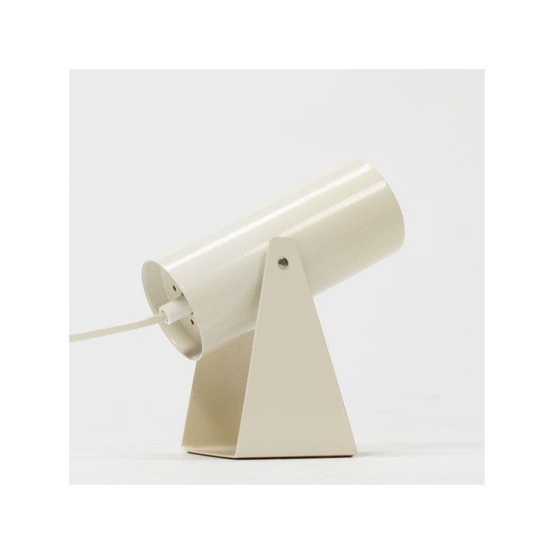 Wit koker tafellampje