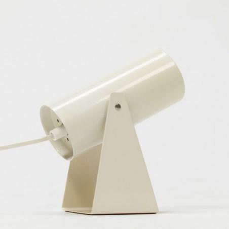 White tube table lamp