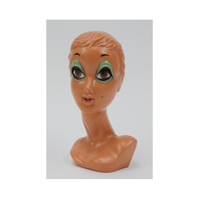 Plastic hoofd uit de 60's/70's