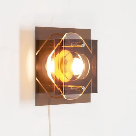 Plexiglazen wandlamp vierkant
