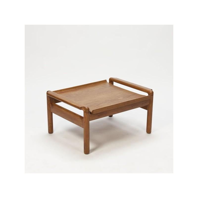 Salon-/ bijzettafel eikenhout / voetenbankje