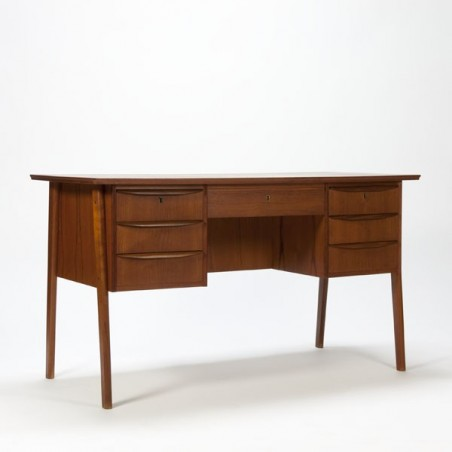 Large Scandinavian desk teak