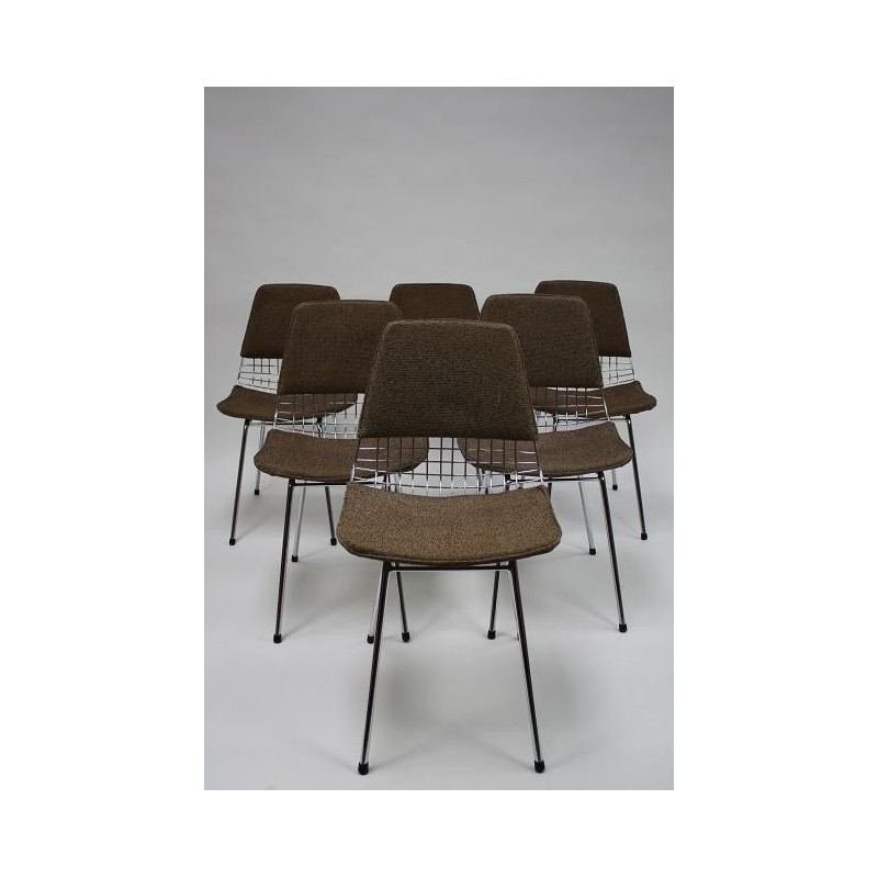 Wire chairs 1950's set of 6
