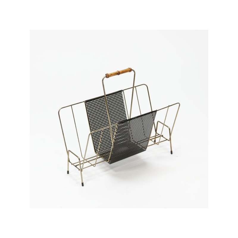 Perforated metal magazine rack