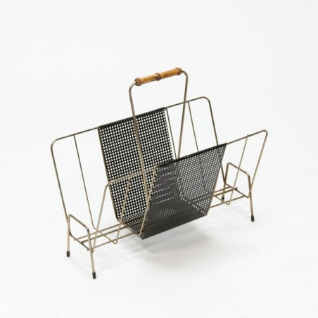 Perforated metal magazine rack