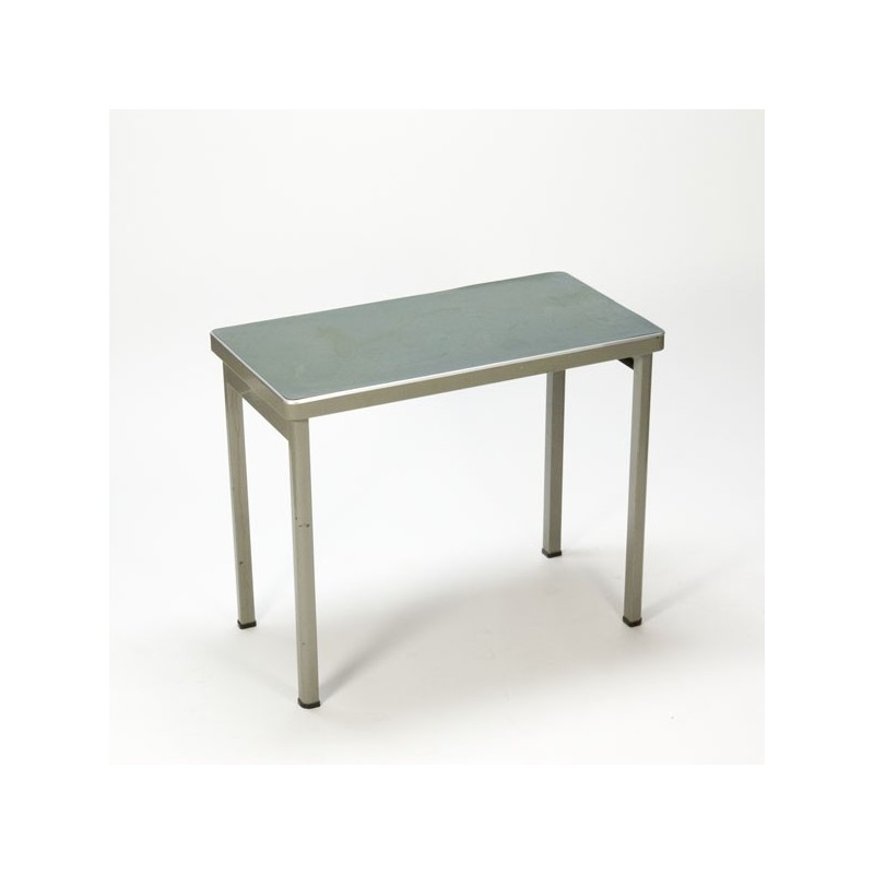Industrial table with linoleum top