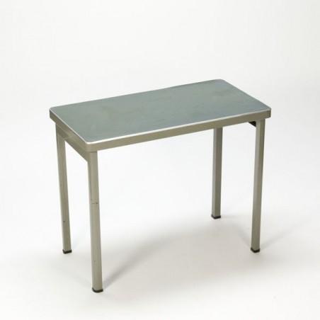Industrial table with linoleum top