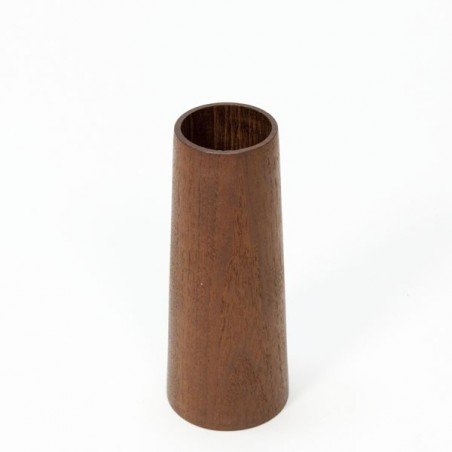 Vintage small wooden vase