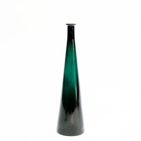 Large glass vase blue/green