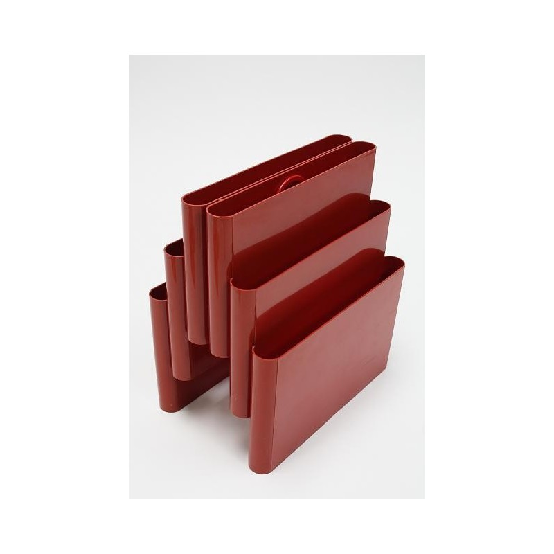 Giotto Stoppino magazine rack red