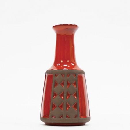 Kleine aardewerk vaas oranje