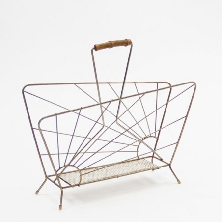 "Magazine rack brass "" Sun"""