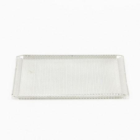Small plate white perforated metal