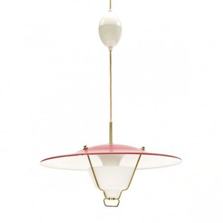 Rode hanglamp 1950's