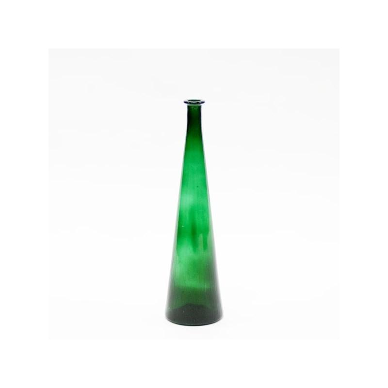 Grote glazen vaas groen