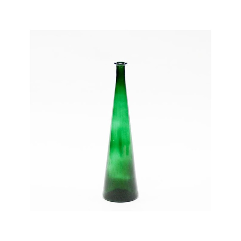 Large glass vase green