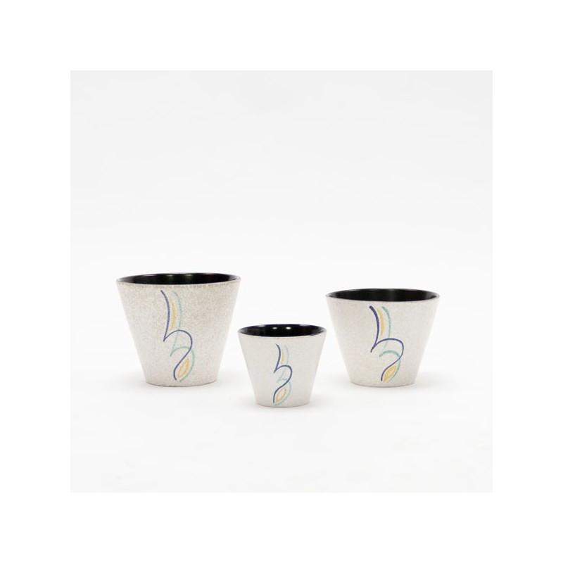 Set of 3 Adco flowerpots