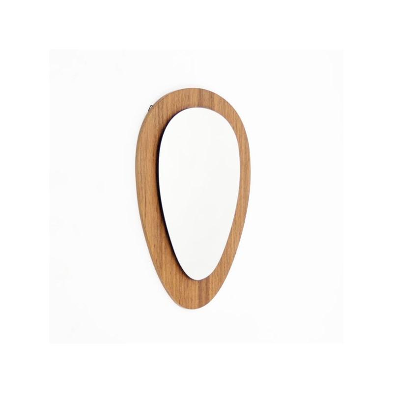 Teakhouten spiegel ovaal model