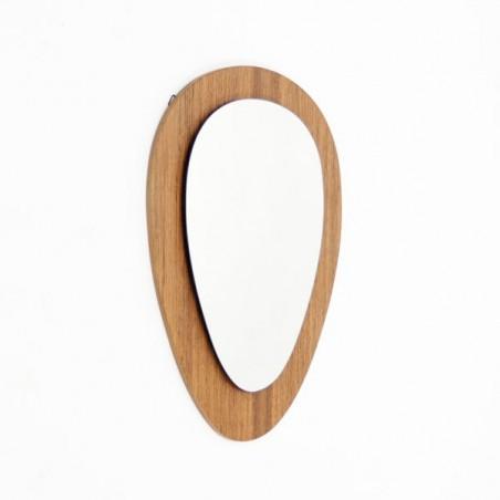 Oval mirror in teak