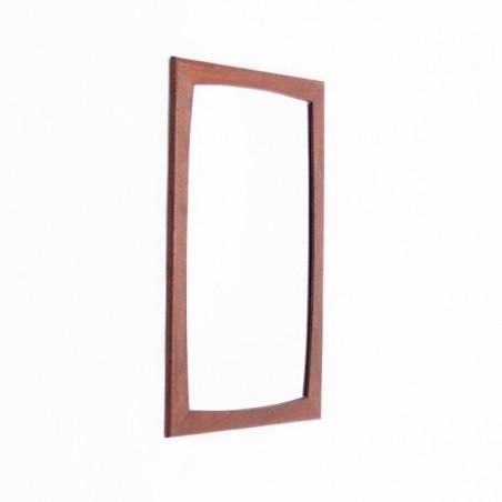 Spiegel met teakhouten rand