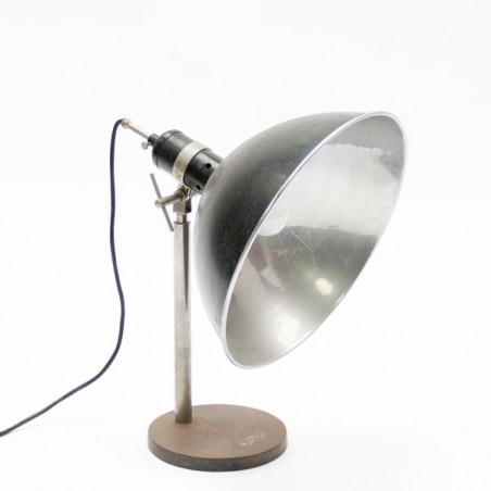Industrial table lamp with large cap