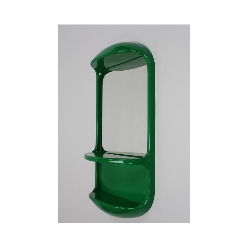 Green plastic mirror 1970s