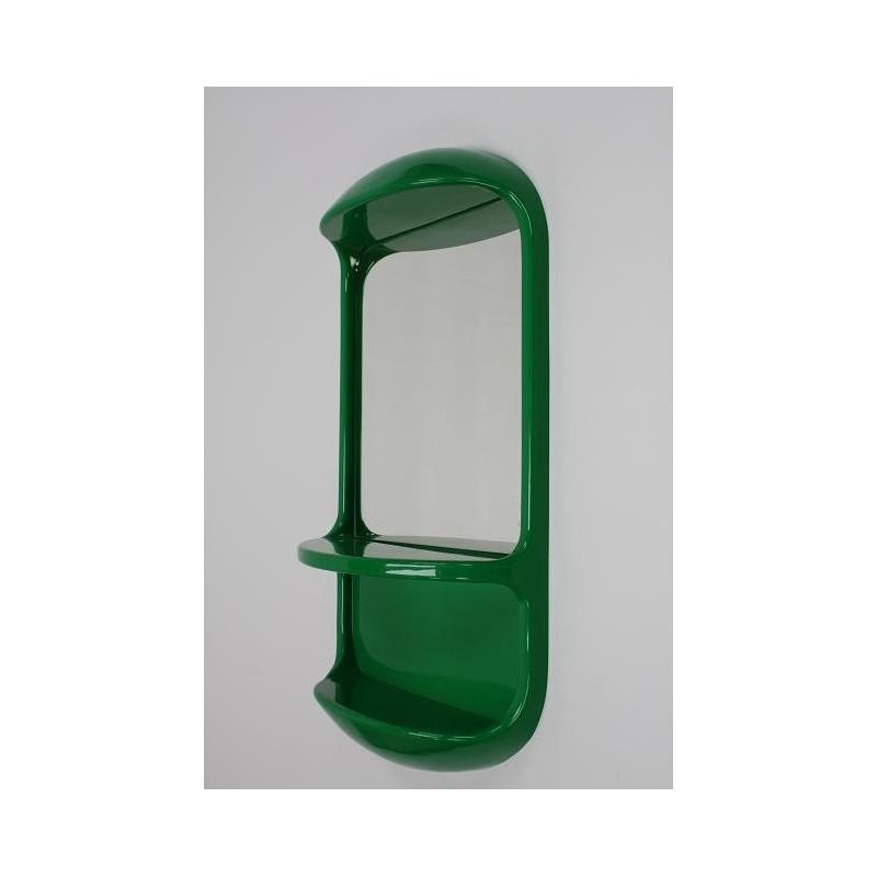 Groene plastic 70's spiegel