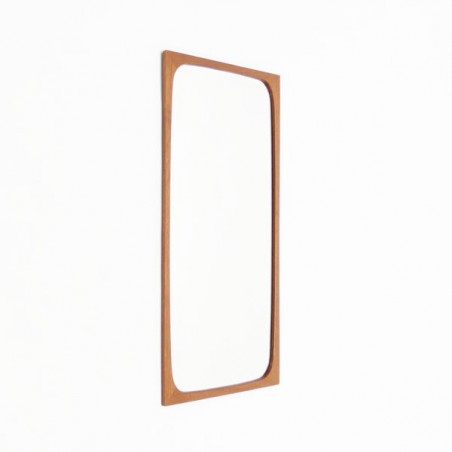 Danish vintage mirror with teak edge