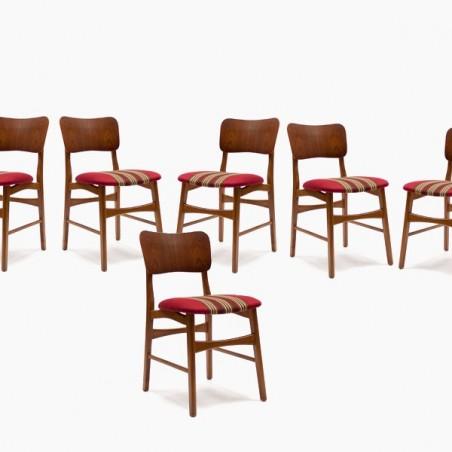 Set of 6 Danish teak chairs