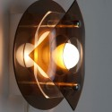 Plexiglazen wandlamp rond