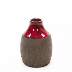 Danish vase red/ brown