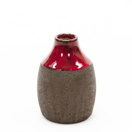 Danish vase red/ brown