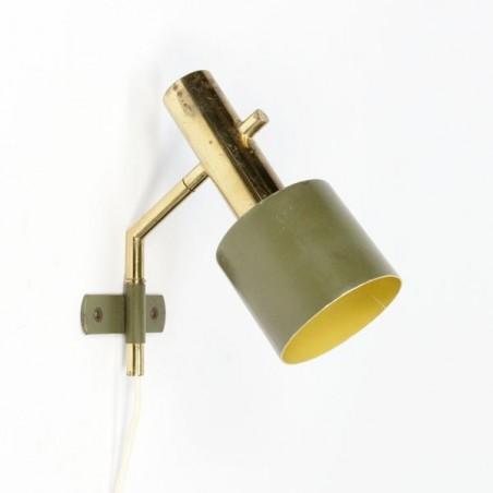 Wandlamp 1950's koper/ groen